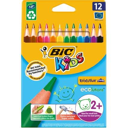 BIC KIDS Dreikant-Buntstifte Evolution Triangle, 12er Etui