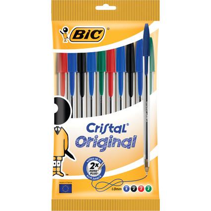 BIC Kugelschreiber Cristal Original, sortiert, 10er Beutel