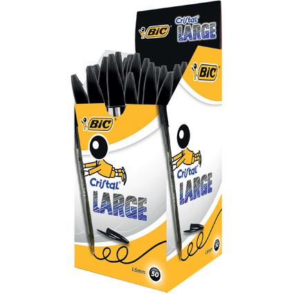BIC Kugelschreiber Cristal Large, Strichfarbe: schwarz