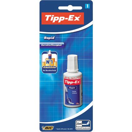 """Tipp-Ex Korrekturflüssigkeit """"Rapid"""", weiß, 25 ml, Blister"""