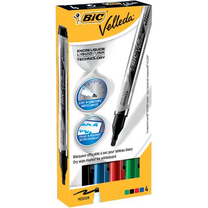 BIC Whiteboard-Marker Velleda Liquid Ink, 4er Etui
