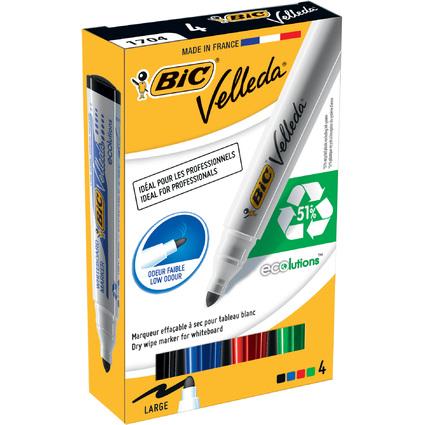 BIC Whiteboard-Marker Velleda 1701 ECOlutions, 4er Etui