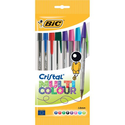 BIC Kugelschreiber Cristal Multicolour, im 8er Beutel
