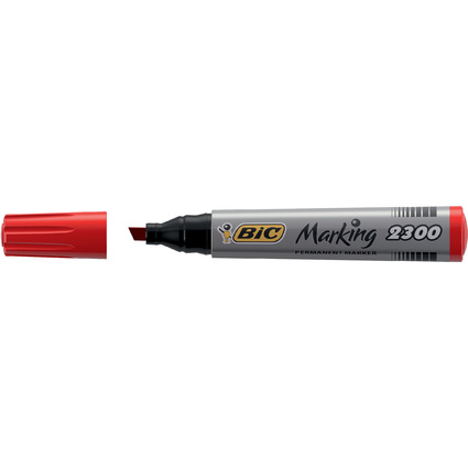 BIC Permanent-Marker Marking 2300 Ecolutions, rot
