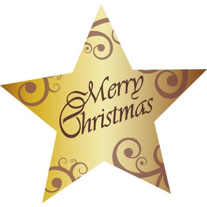 """sigel Weihnachts-Sticker """"Christmas Stars"""", auf Rolle"""
