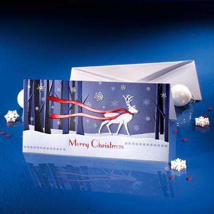 """sigel Weihnachtskarte """"Winter's Eve"""", DIN lang (2/3 A4)"""
