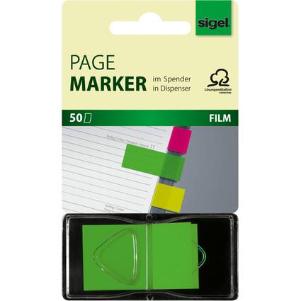 """sigel Haftstreifen """"Z-Marker"""" Neon, 25 x 45 mm, neon-grün"""