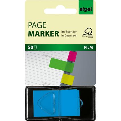 """sigel Haftstreifen """"Z-Marker"""" Neon, 25 x 45 mm, neon-blau"""