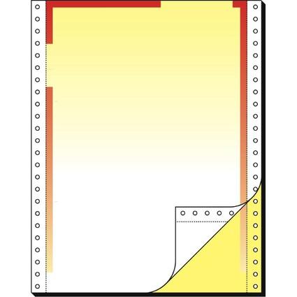 sigel Computer-Briefbogen endlos, Farbverlauf rot/gelb