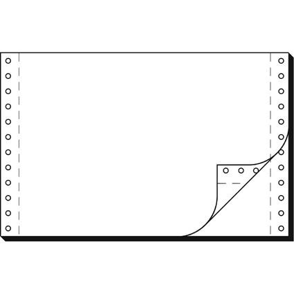"""sigel DIN-Computerpapier endlos, 240 mm x 6"""" (15,24 cm)"""