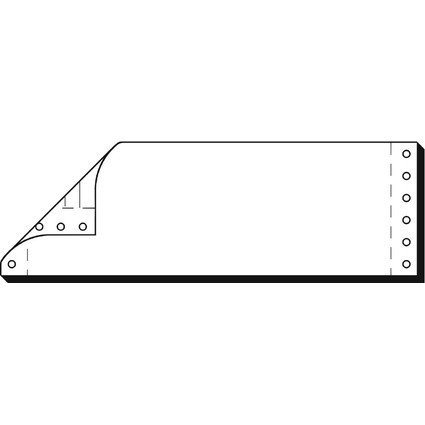"sigel Computerkarten endlos, 240 mm x 7,62 cm (3""), 120 g/qm"