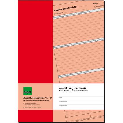 "sigel Formularbuch ""Ausbildungsnachweis"", A4, 28 Blatt"
