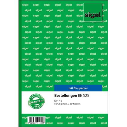 "sigel Formularbuch ""Bestellung"", A5, 2 x 50 Blatt"