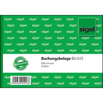 """sigel Formularbuch """"Buchungsbeleg"""", A6 quer, 50 Blatt"""