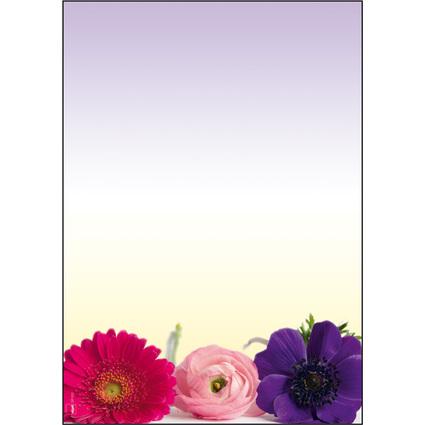 "sigel Design-Papier, DIN A4, 90 g/qm, Motiv ""Flower Hormony"""