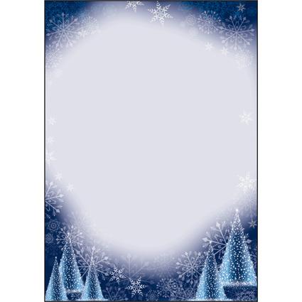 """sigel Weihnachts-Motiv-Papier """"Night Sky"""", A4, 90 g/qm"""