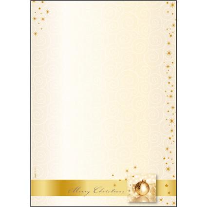 """sigel Weihnachts-Motiv-Papier """"Golden Times"""", A4, 90 g/qm"""