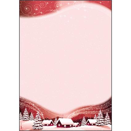 """sigel Weihnachts-Motiv-Papier """"Silent Night"""", A4, 90 g/qm"""