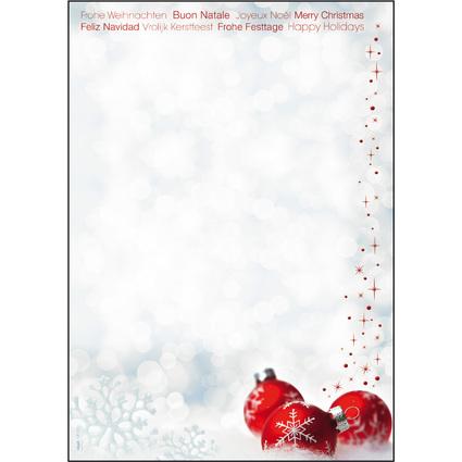 """sigel Weihnachts-Motiv-Papier """"Winter Time"""", A4, 90 g/qm"""