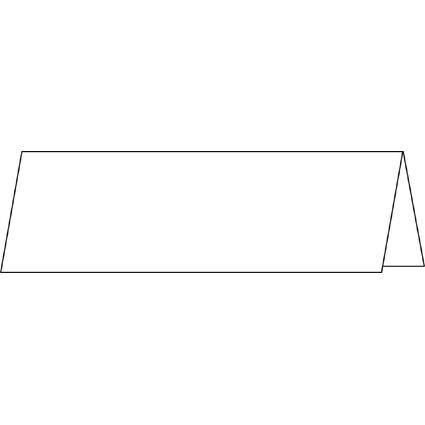 sigel Tischkarte, hochweiß, 185 g/qm, 190 x 60/120 mm