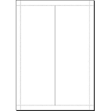 sigel Tischkarte, hochweiß, 185 g/qm, 240 x 90/180 mm