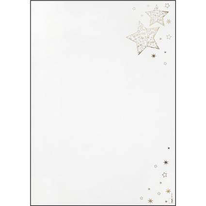"""sigel Weihnachts-Motiv-Papier """"Golden Glow"""", A4, 90 g/qm"""