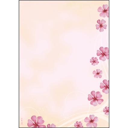 """sigel Design-Papier, DIN A4, 90 g/qm, Motiv """"Wind Flower"""""""