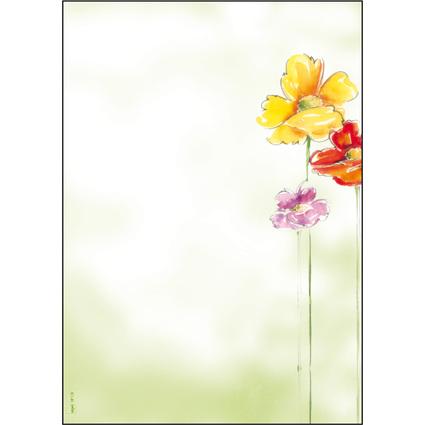 """sigel Design-Papier, DIN A4, 90 g/qm, Motiv """"Spring Flowers"""""""