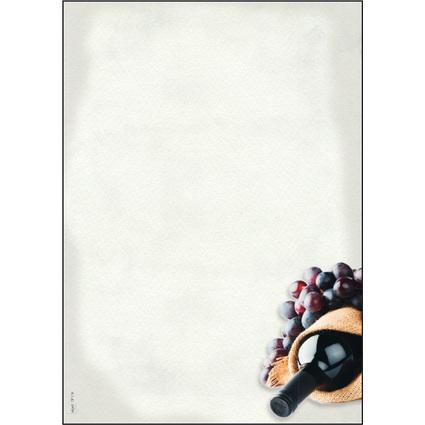 """sigel Design-Papier, DIN A4, 90 g/qm, Motiv """"Menü Wein"""""""