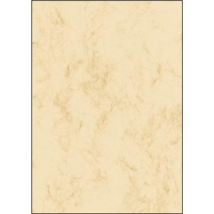 sigel Marmor-Papier, A4, Feinpapier, 90 g/qm, beige