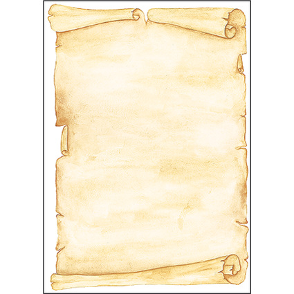 "sigel Design-Papier, DIN A4, 90 g/qm, Motiv ""Pergament"""