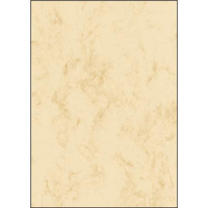 sigel Marmor-Papier, A4, 200 g/qm, Edelkarton, beige