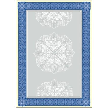 sigel Motiv-Papier Wertpapier, A4, 185 g, Edelkarton, blau