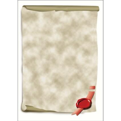 """sigel Design-Papier, DIN A4, 185 g/qm, Motiv """"Urkundenrolle"""""""