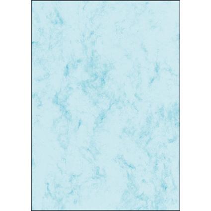 sigel Marmor-Papier, A4, 200 g/qm, Edelkarton, blau