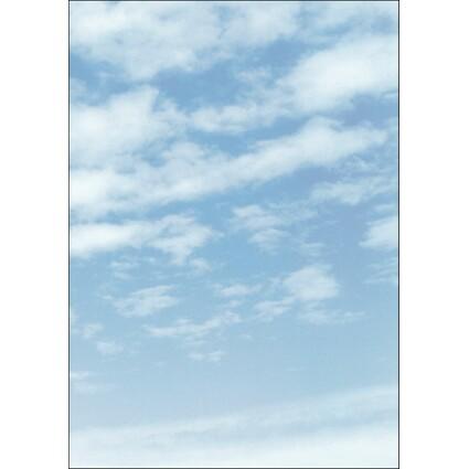 "sigel Design-Papier, DIN A4, 90 g/qm, Motiv ""Clouds"""