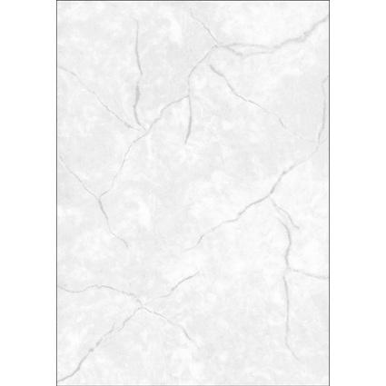 sigel Struktur-Papier, A4, 90 g/qm, Feinpapier, Granit grau
