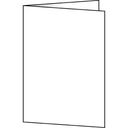 sigel PC-Faltkarten, A6 (A5), 185 g/qm, hochweiß, Edelkarton