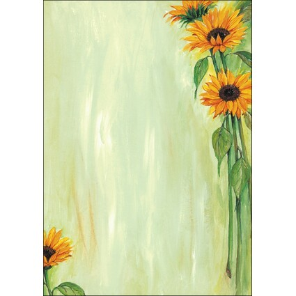 "sigel Design-Papier, DIN A4, 90 g/qm, Motiv ""Sunflower"""