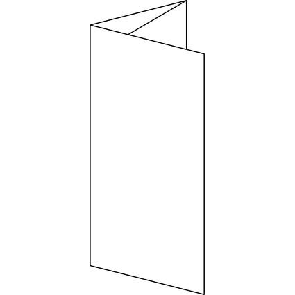 sigel PC-Faltkarten, DIN lang (A4), 185 g/qm, hochweiß
