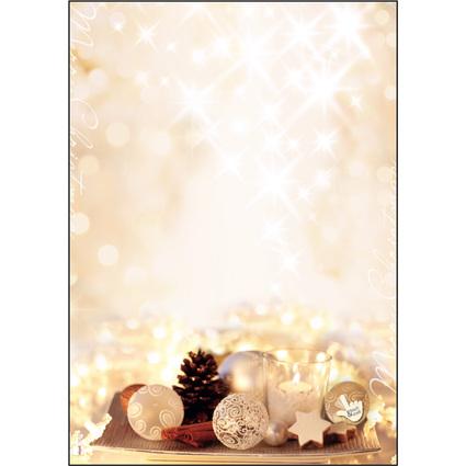 "sigel Weihnachts-Motiv-Papier ""Zimtsterne"", A4, 90 g/qm"