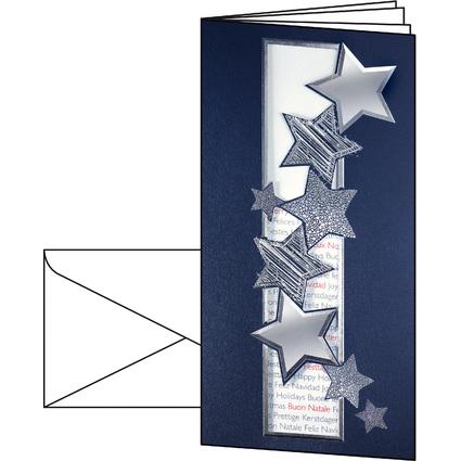 """sigel Weihnachtskarte """"Fantasy"""", DIN lang (2/3 A4)"""