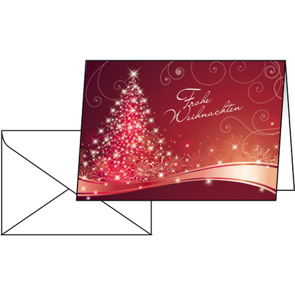 "sigel Weihnachtskarte ""Christmas Swing"", A6 (A5)"
