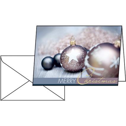 "sigel Weihnachtskarte ""Exquisite"", A6 (A5)"