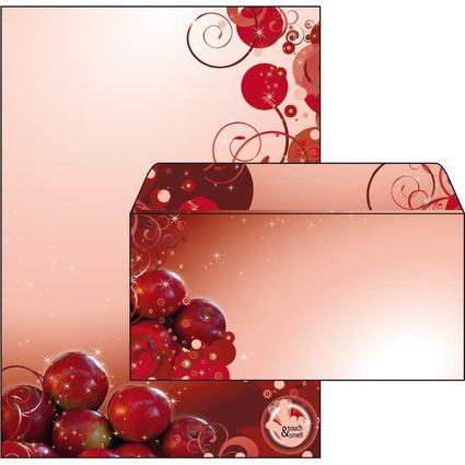 """sigel Weihnachts-Briefpapier-Set """"Bratapfel"""", inkl.Umschläge"""