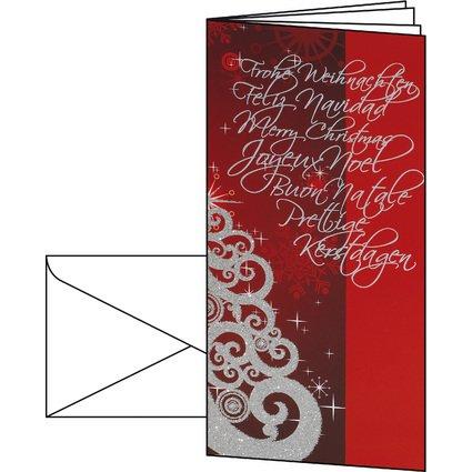 """sigel Weihnachtskarte """"Splendid"""", DIN lang (2/3 A4)"""