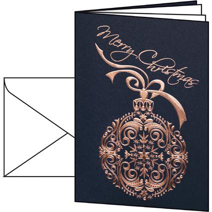 "sigel Weihnachtskarte ""Noblesse"", A6 (A5)"