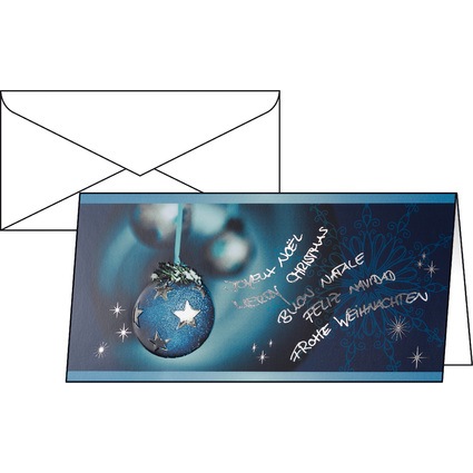 "sigel Weihnachtskarte ""Miracle"", DIN lang (2/3 A4)"