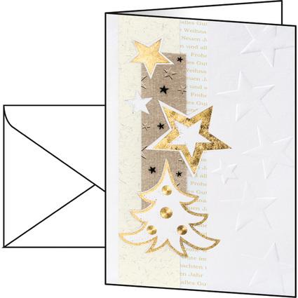 "sigel Weihnachtskarte ""White Christmas"", A6 (A5)"