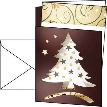 "sigel Weihnachtskarte ""Dancing Tree"", A6 (A5)"